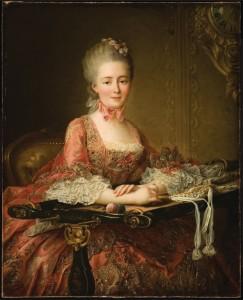 Marquise de Caumont La Force, by Francois Hubert Drouais