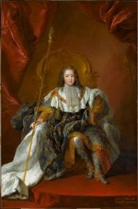 Louis XV tenant le sceptre